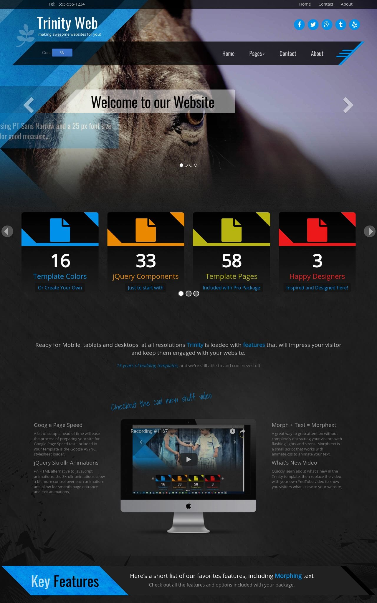Equestrian Frontpage Templates