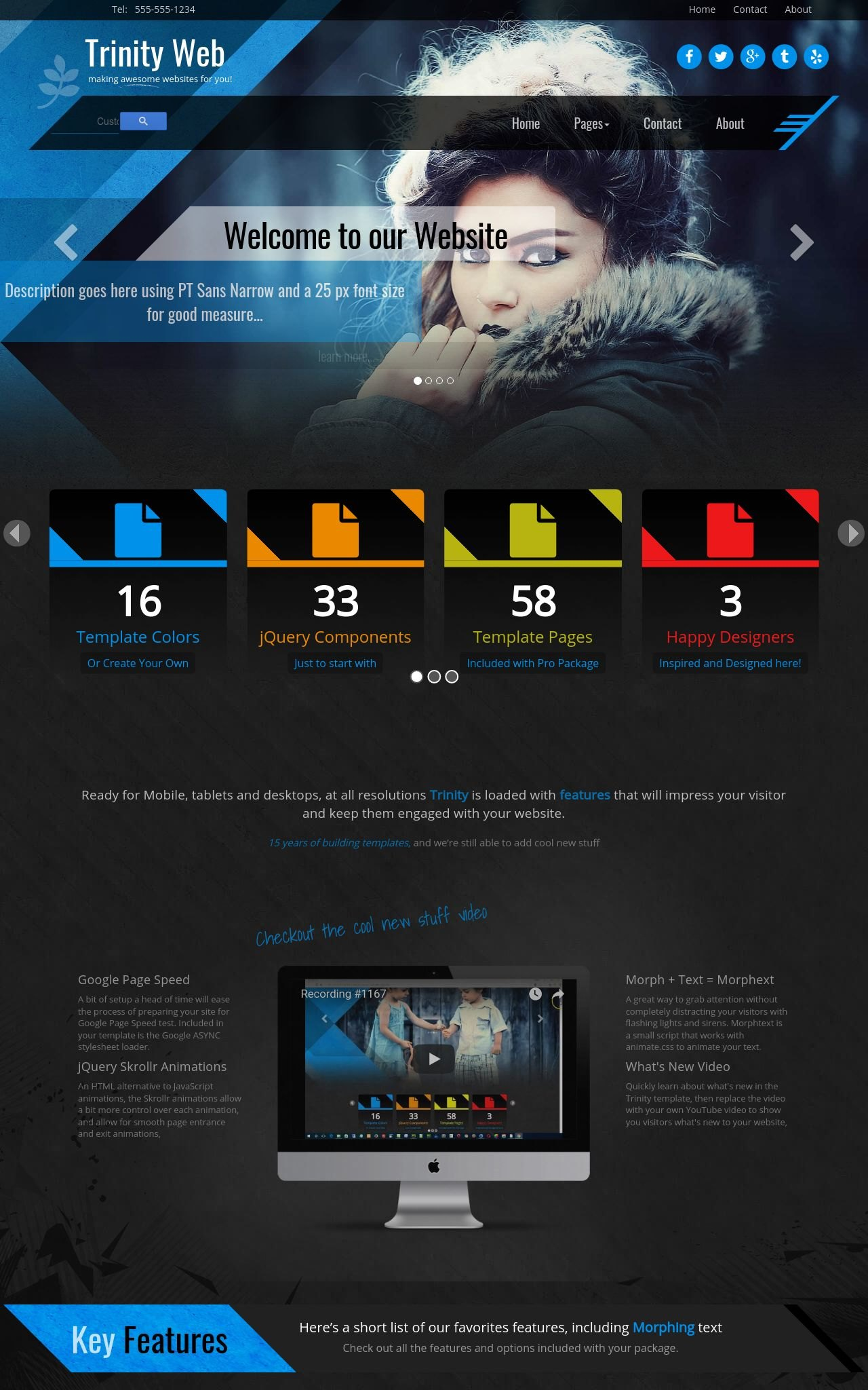 Tablet: Multi-purpose Frontpage Template