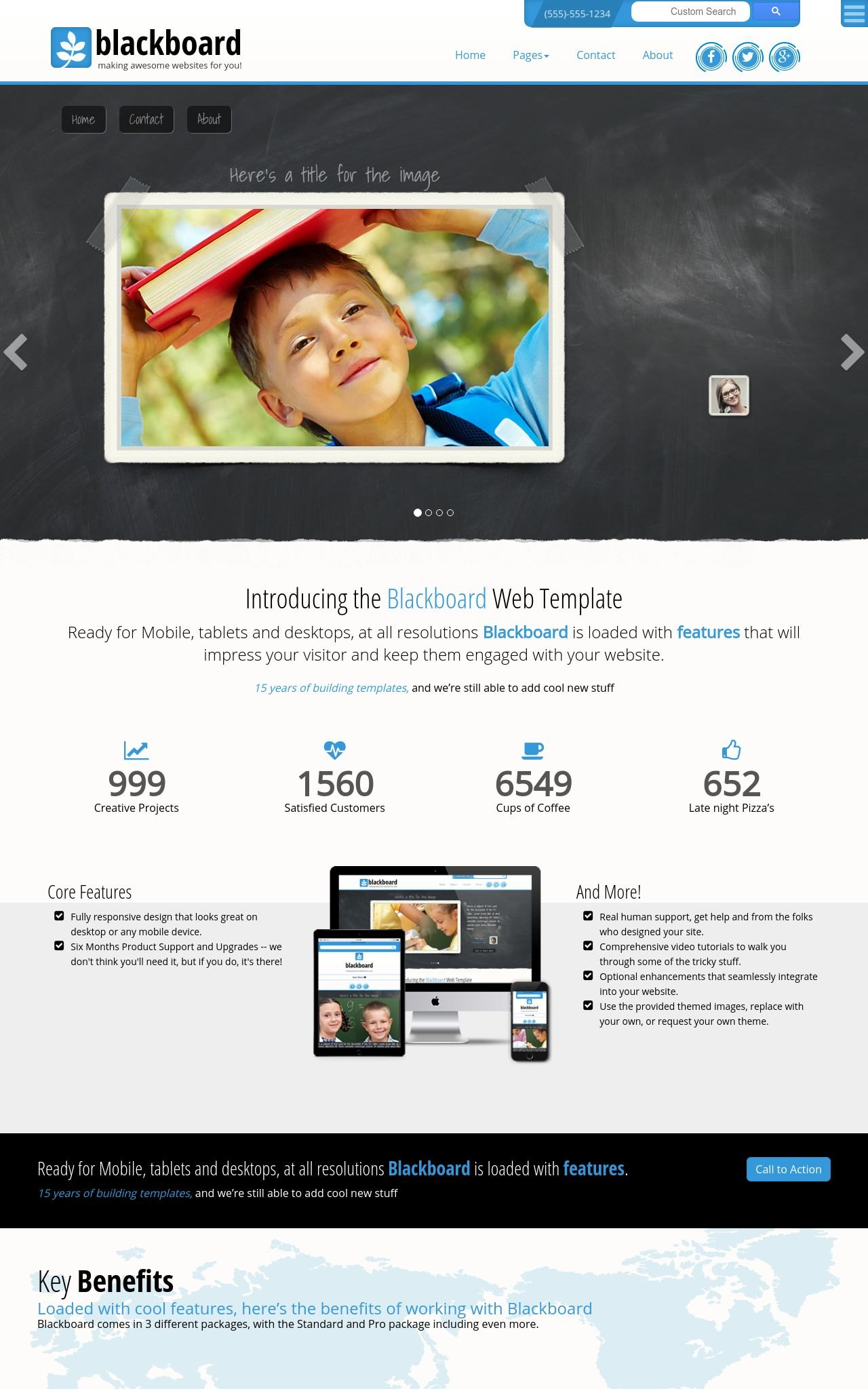 Blackboard [FD] Education Blue/White | Education Web Template
