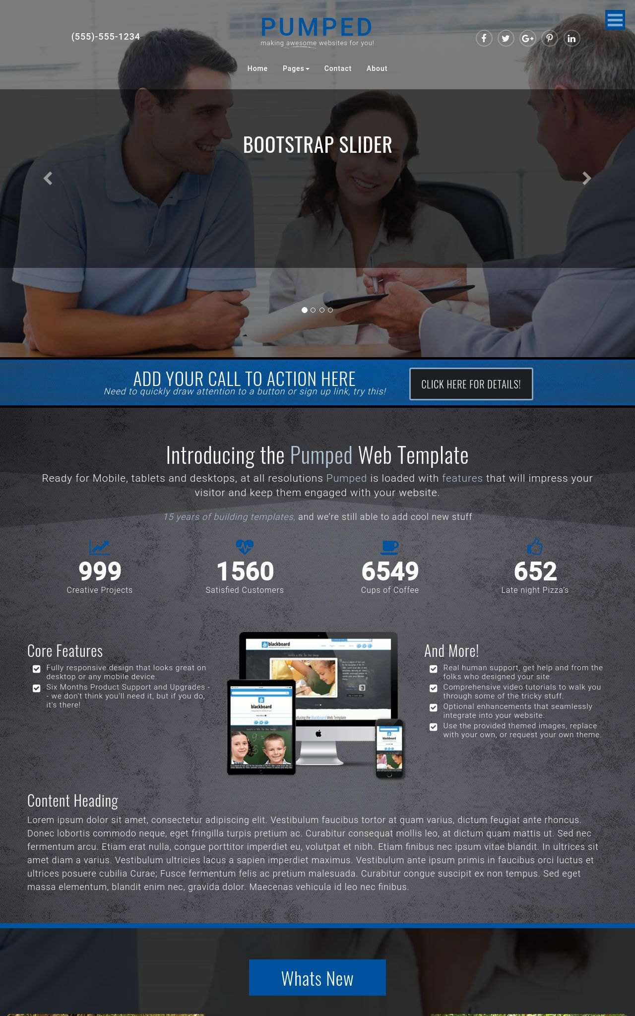 Desktop: Insurance Frontpage Template
