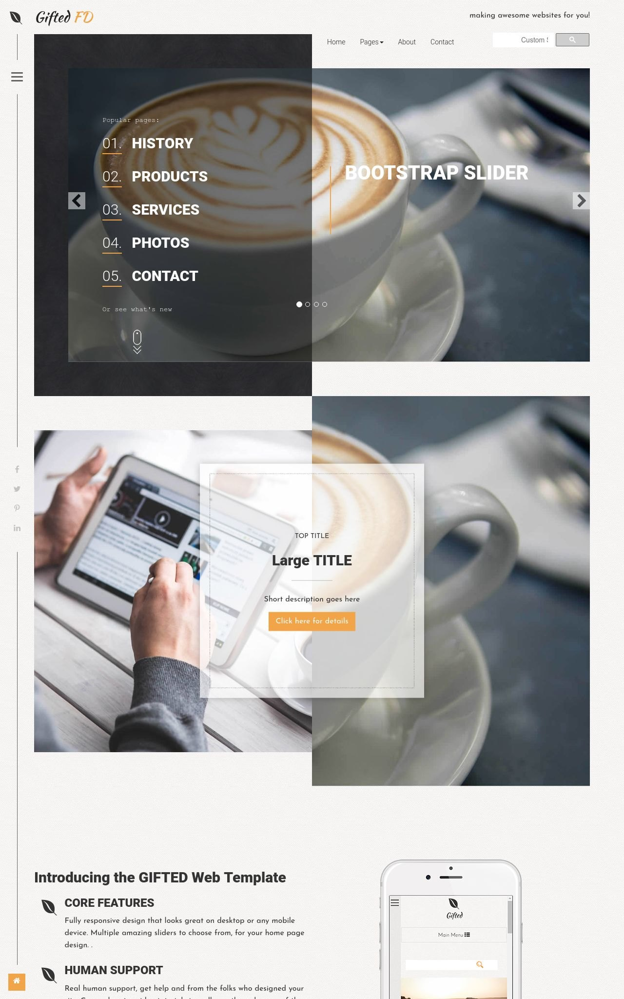 Tablet: Cafe Web Template