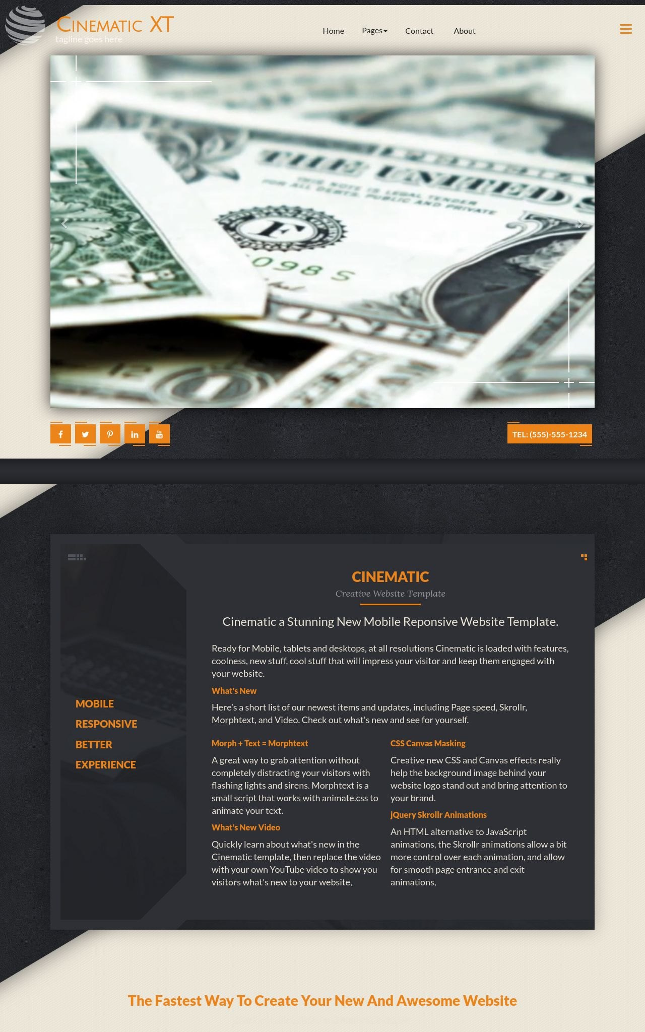 Desktop: Accounting Frontpage Template