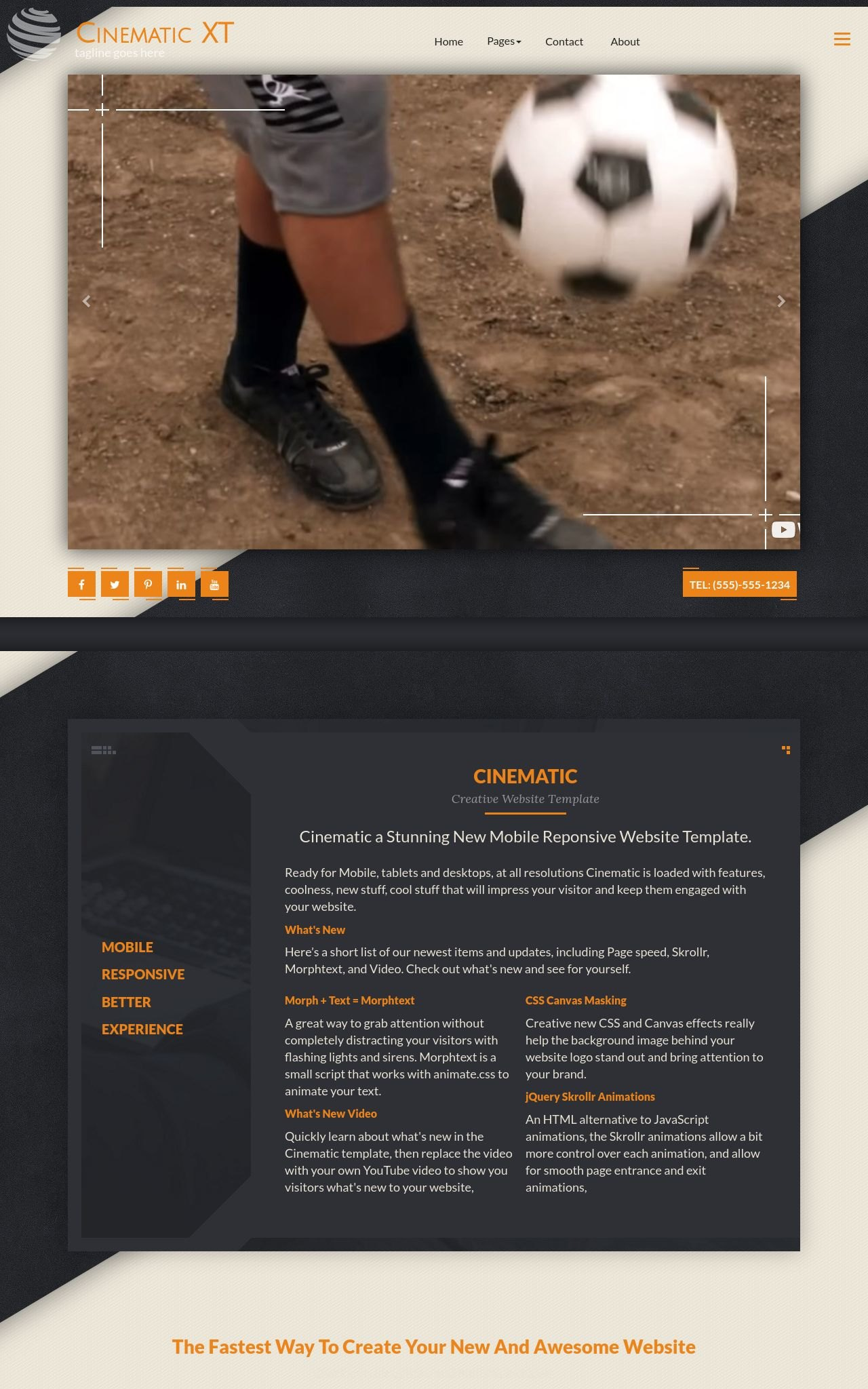 Soccer Frontpage Templates