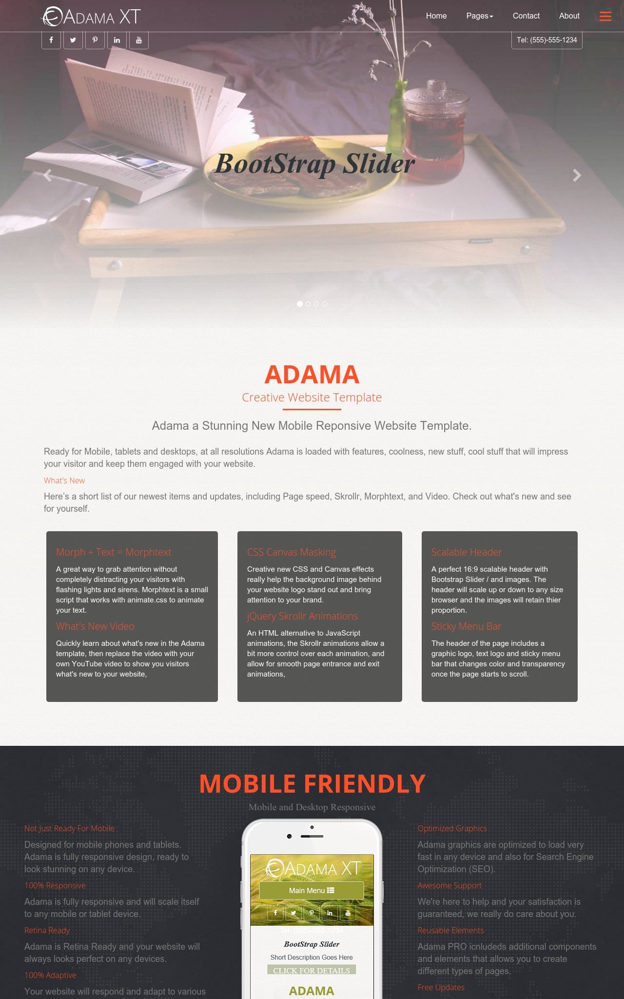 Bed-and-breakfast Web Templates