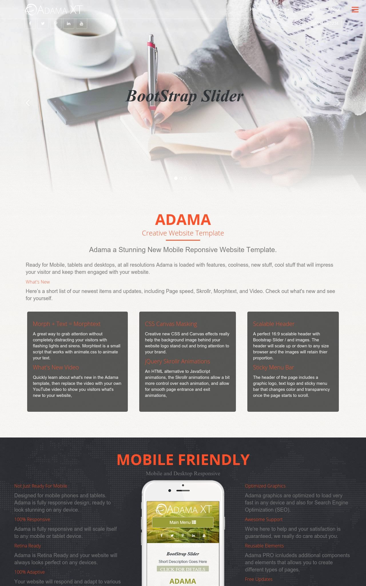 Adama [HD] Business Orange/Black | Business Dreamweaver Template