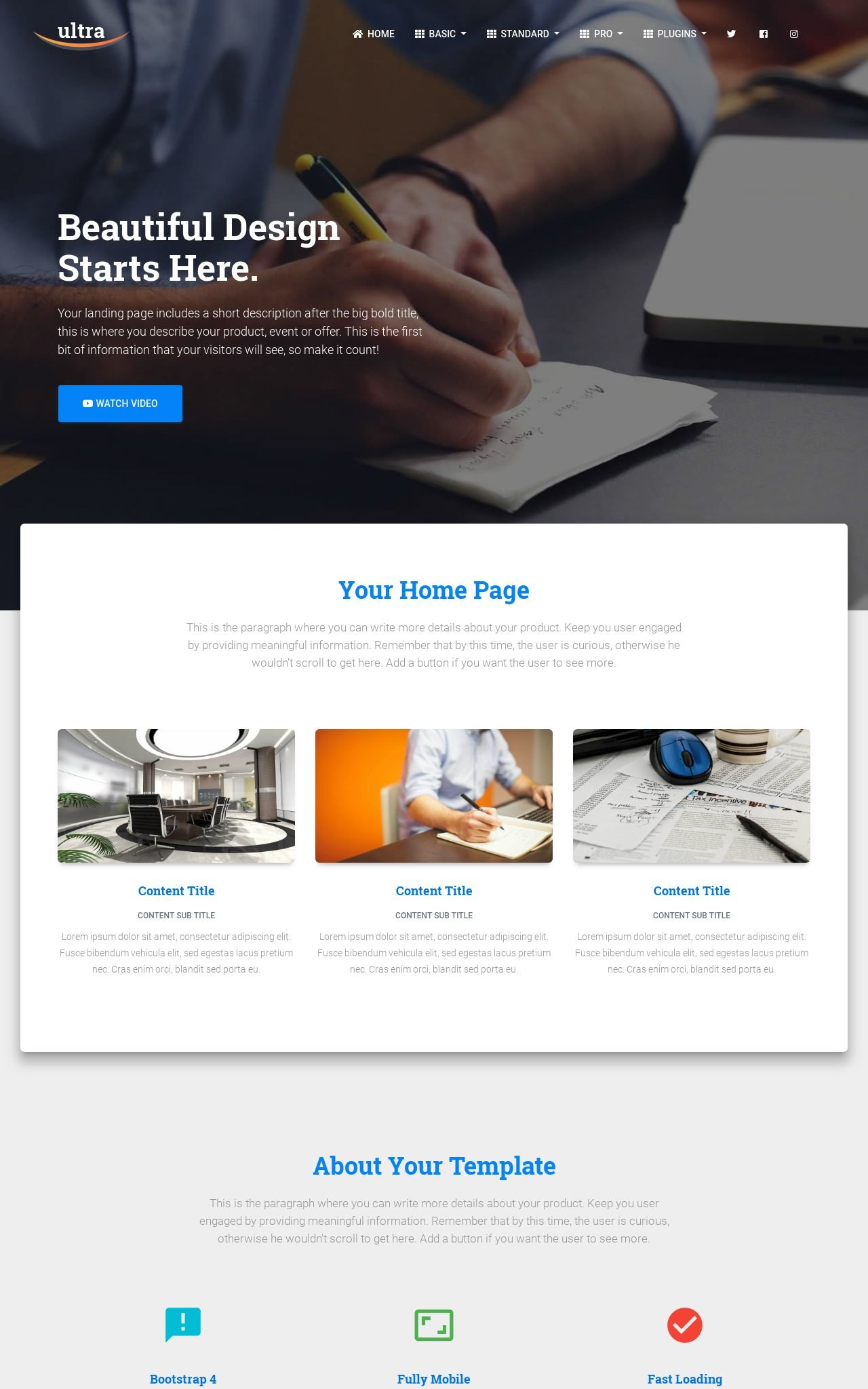 Accounting Frontpage Templates