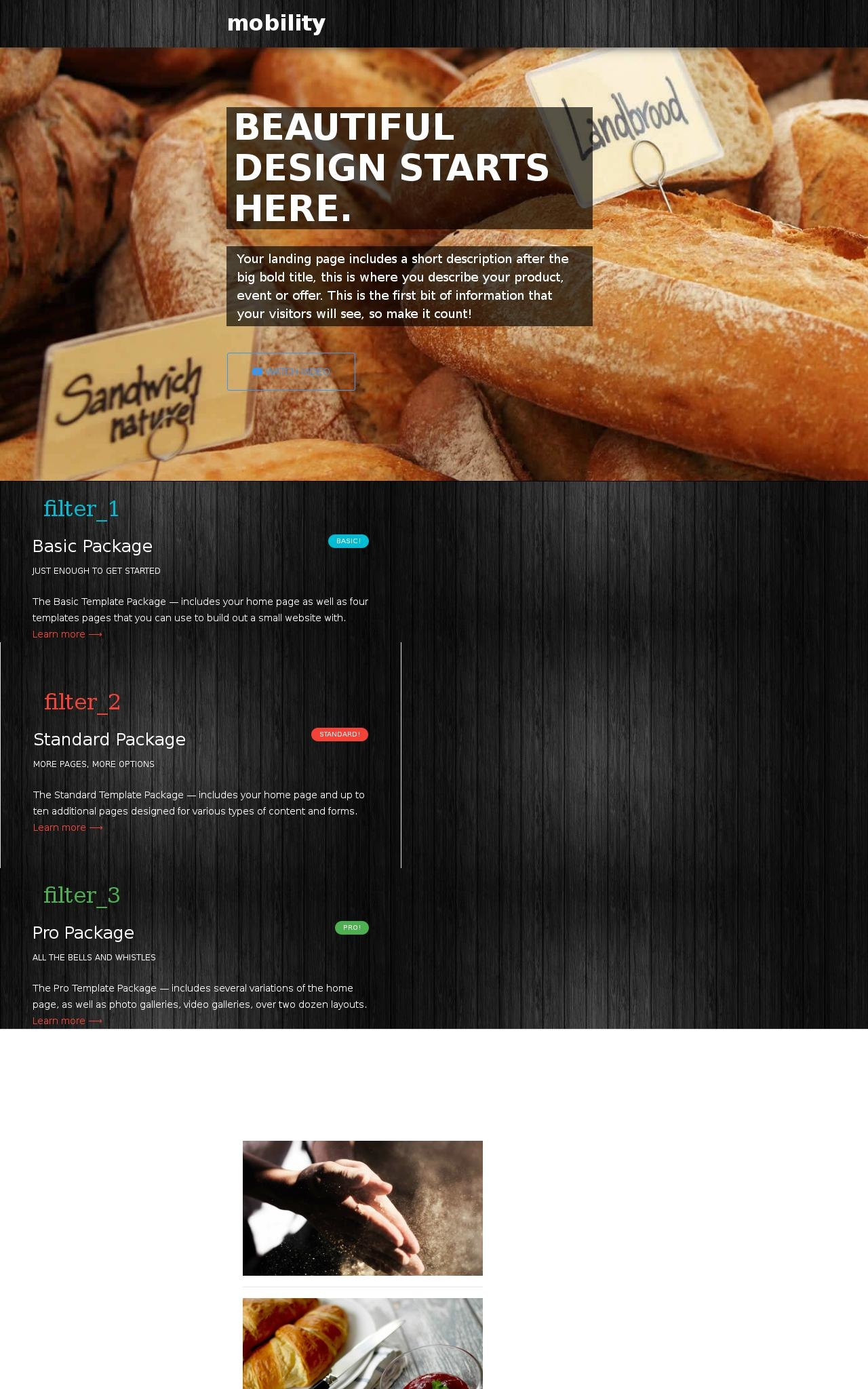 Tablet: Bakery Web Template
