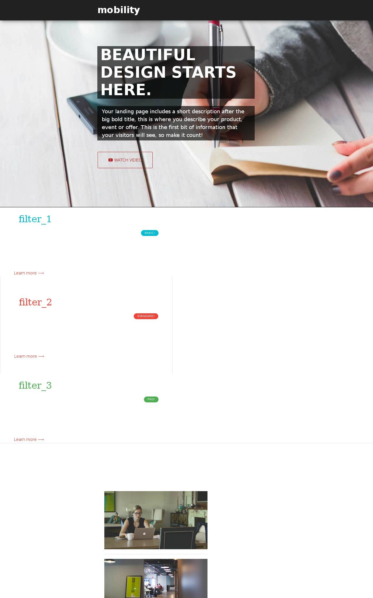 Desktop: Business Web Template