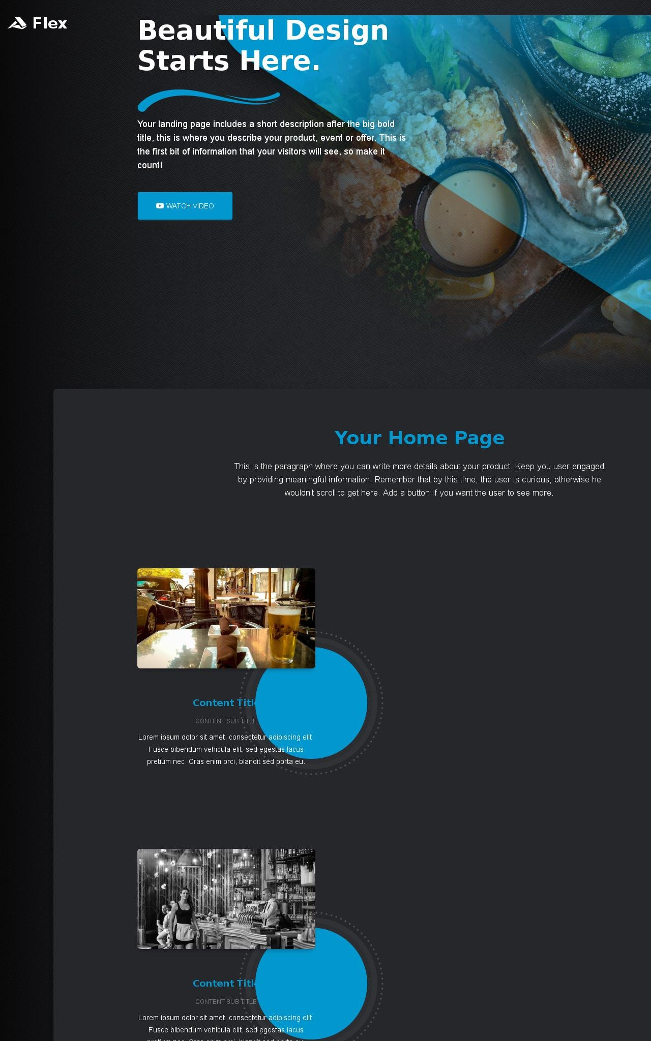 Desktop: Pub Web Template