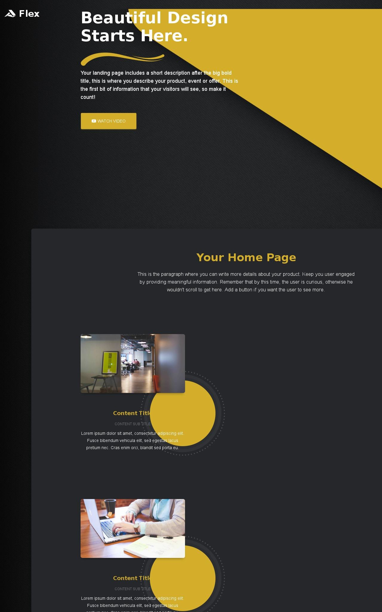 Tablet: Business Frontpage Template