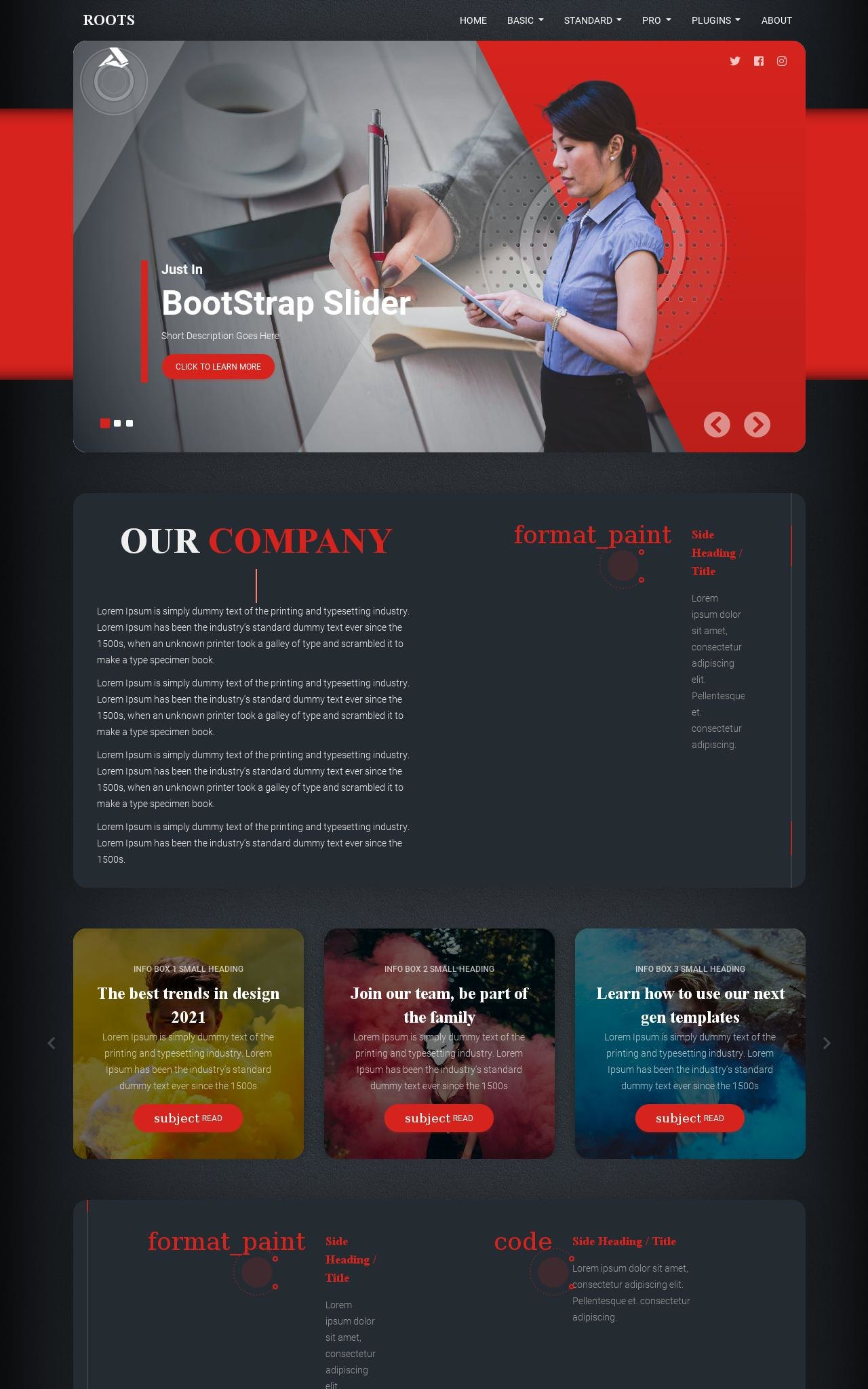Business Dreamweaver Templates